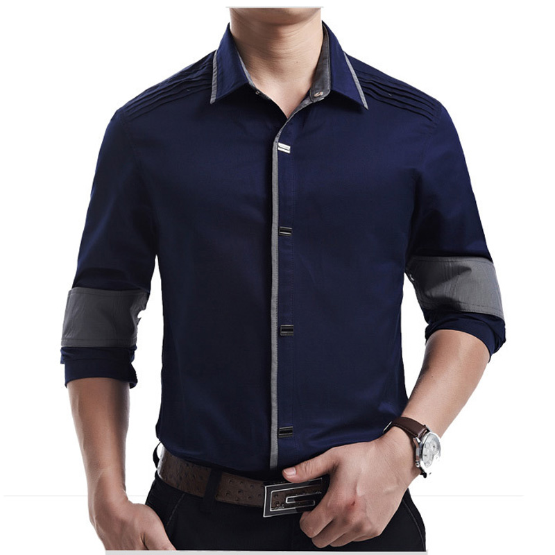 new 2017 spring autumn cotton dress shirts high