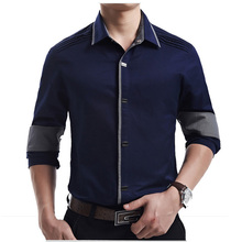 New Spring Autumn Cotton Long Sleeve Shirt High Quality Men Casual Shirt Slim Fit