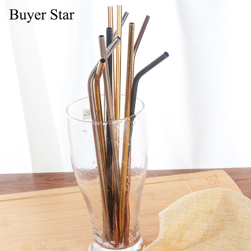 С трубочкой для питья для детей многоразовые трубочки очиститель набор кистей 18 см Высокое качество Экологичная металлическая соломинка д...
