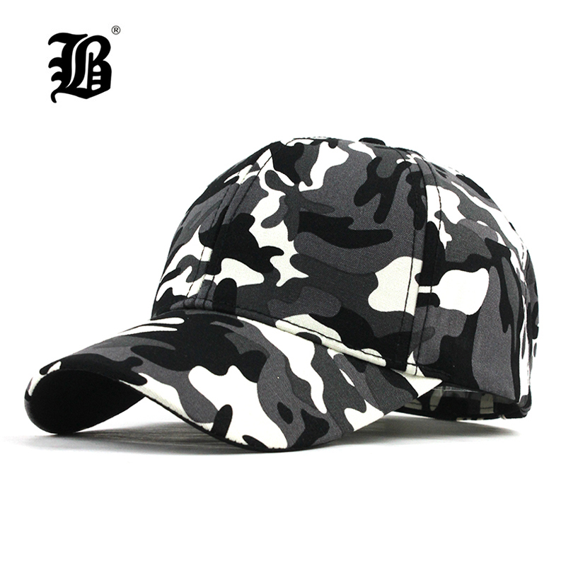 [FLB] Snow Camo   Baseball     Cap   Men Tactical   Cap   Camouflage Snapback Hat For Men High Quality Bone Masculino Dad Hat Trucker F187