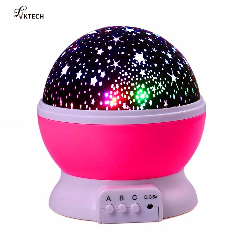 3D Moon Lamp with Projector and Rotating Stand for Child Bedroom including USB Charger 1