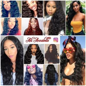 Image 5 - 3 Bundles Peruvian Loose Wave Bundles With Closure 5*5 Lace Closure 4Pcs/Lot Human Hair Weave Bundles With Closure