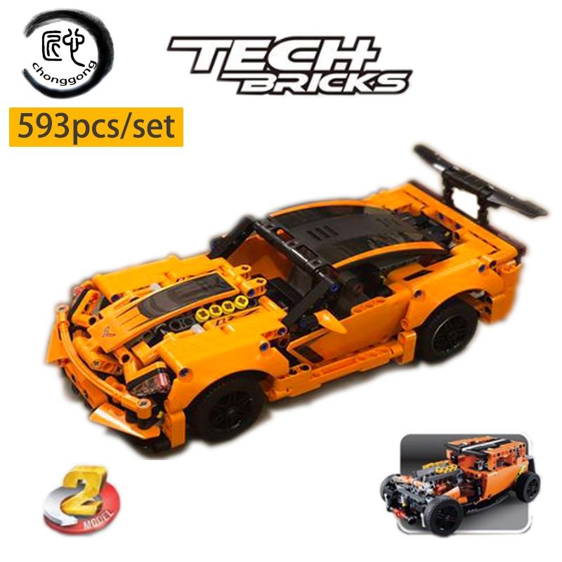 Lego Technic 42093 Chevrolet Corvette ZR1 New Building Sport car