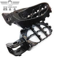 Aftermarket free shipping motorcycle parts Motocross MX Dirt Bike Foot Pegs For Honda 1988 1994 CR125R CR500R CR250R GRAY