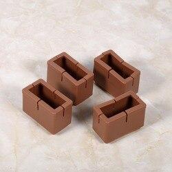 8 قطعة/الوحدة مربع شكل طاولة أثاث يغطي المطاط كرسي الساق قبعات مكتب قدم حامي منصات شفافة/القهوة