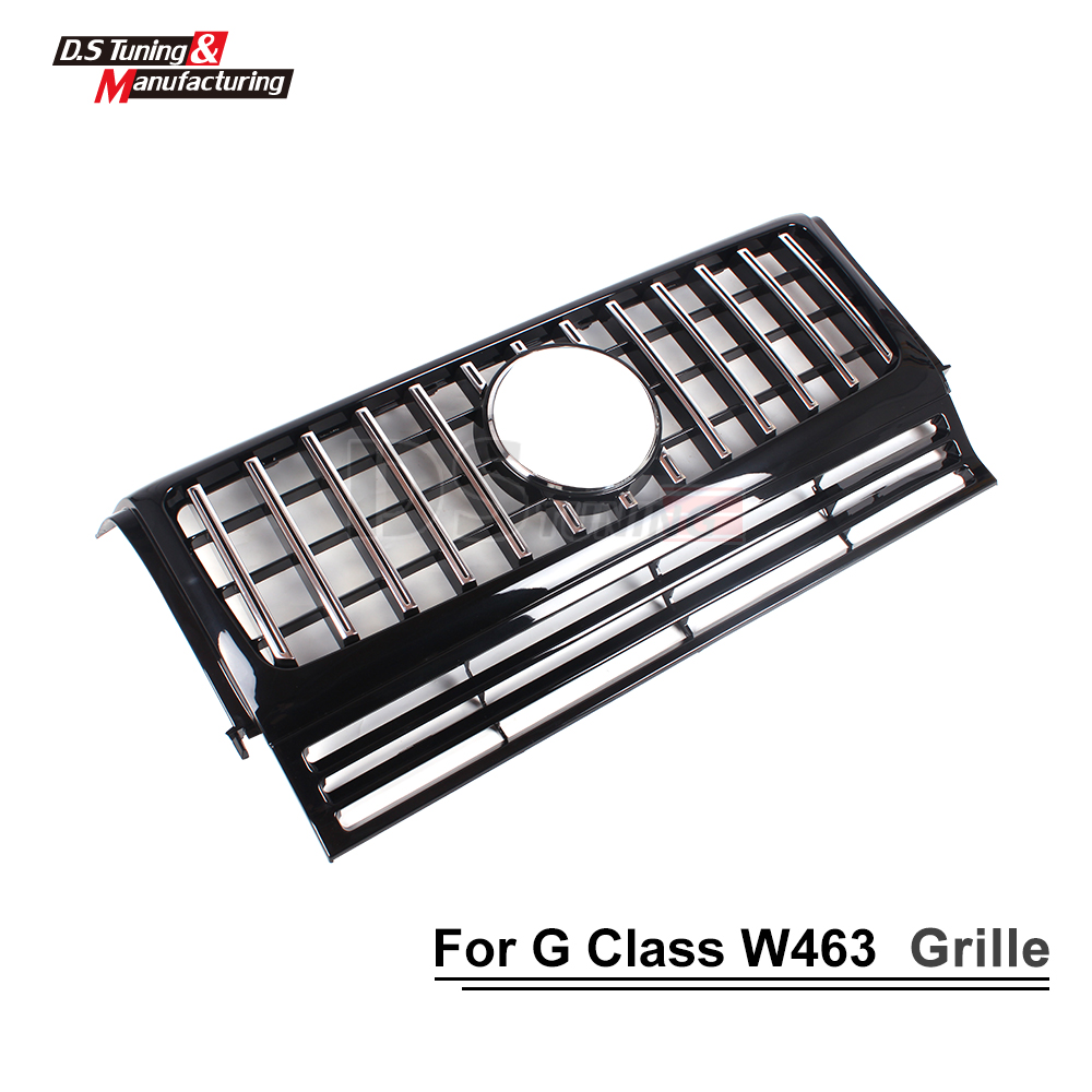 W463 GT Grille for Benz G Class ABS Gloss Black Front Bumper Mesh Kidney Grills G500 G55 G63 2013 Auto Parts Car Styling in Racing Grills from Automobiles Motorcycles