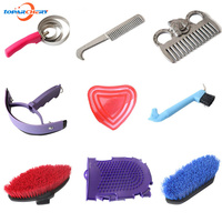 Equestrian Cleaning Set With Sweet Scraper Comb Water Wiper Hoof Pick Grooming Tools For Horse Supplies