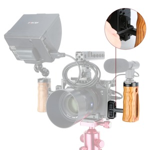 """Image 4 - NICEYRIG カメラハンドウッド一眼レフ木製サイドハンドル靴チーズトップ 1/4 """"ネジ穴用ニコンカメラケージ"""
