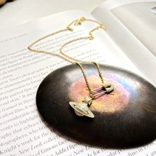 Silver Planet Shaped Pendant Necklace