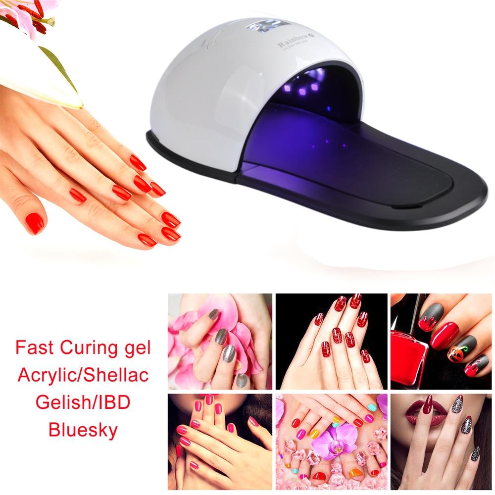 48 W 2 en 1 Gel vernis lampe de polymérisation LED/UV pied sèche-ongles pour main pieds sèche avec pieds Pad beauté séchage ongle ongle ongle ongle