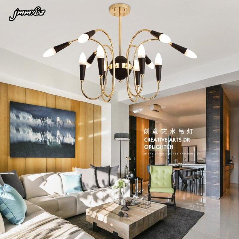 Simple Study Room: Nordic Chandelier LED Metal Long Creative Simple