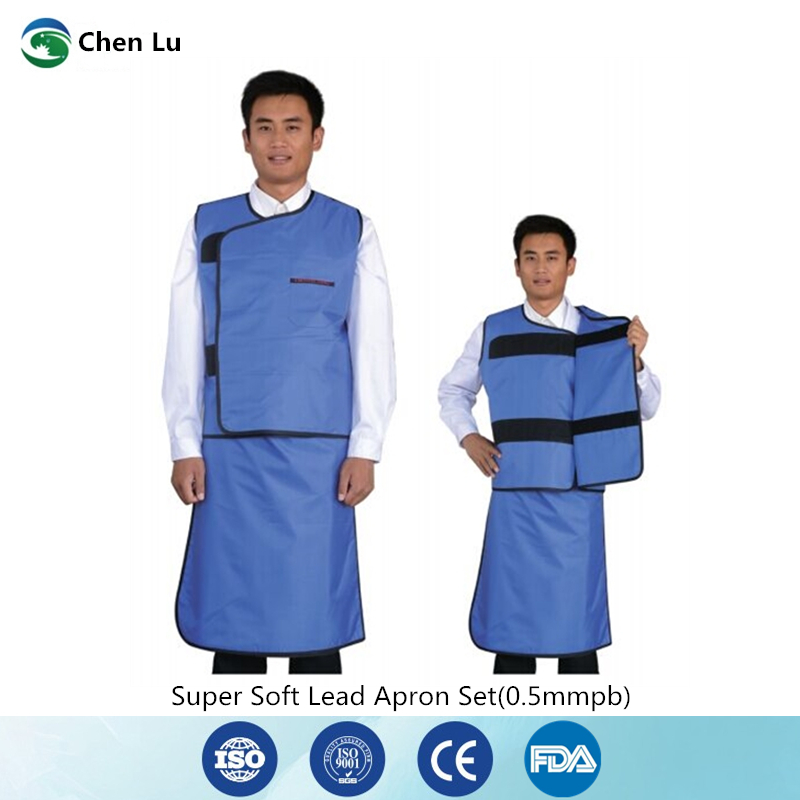 Hospital interventional surgery doctor with x ray radiation protection 0.5mmpb double sided super soft lead apron set|Safety Clothing| |  - title=