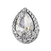 Pandulaso Radiant Teardrop Charm 925 Sterling Silver Jewelry Fit DIY Charms Bracelets Choker Woman Beads For