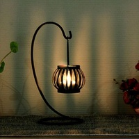 Candle Holders Retro Candlestick Craft Decoration Candle Holder Iron Wedding Gifts Christmas Halloween Decorative Pumpkin Lights