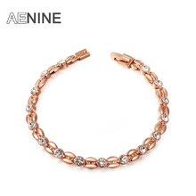 AENINE Exquisite Bracelets Rose Gold Color High Quality Products Best Christmas Jewelry Gift Factory Price New Style L2060802490(China)