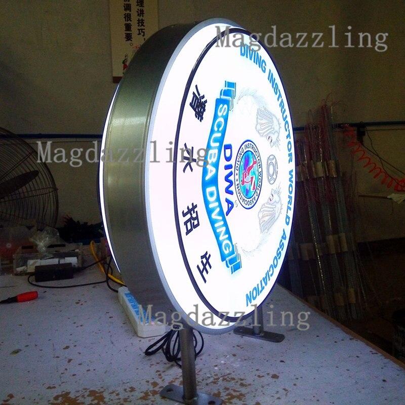 De aluminio al aire libre Marcos ronda doble cara LED retroiluminada ...
