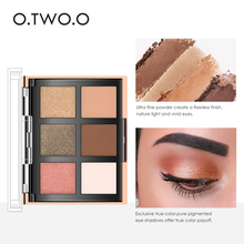 O.TWO.O Palette Eyeshadow Highlighter Glitter Blusher Face Contour Makeup Pallete 6 Colors Eyeshadow+2