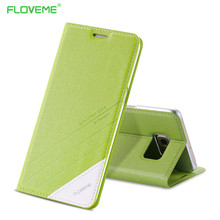 Floveme s6/s6 край элегантный натуральная кожа case для samsung galaxy s6 edge флип бумажник с карт памяти стенд мобильный телефон крышка