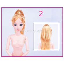 12 Moveable Joints Doll Body For Doll Plastic Solid Cake Baking Princess Doll Naked Body For Dolls With Head Female Figure