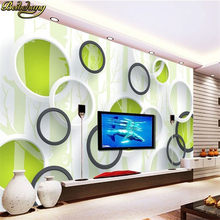 beibehang any size Simple ring 3d  European minimalist bedroom living room TV backdrop KTV3D stripes abstract mural wallpaper