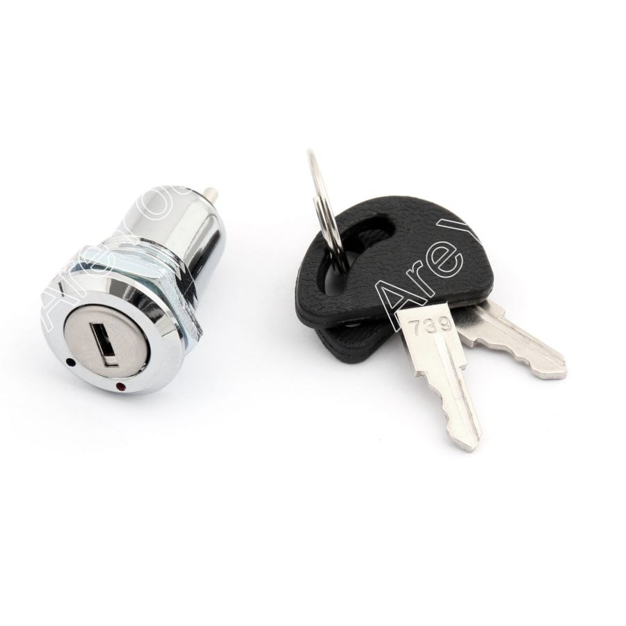 Areyourshop Key Switch D332 16mm Security Electronic Key Lock Switch On/Off 2 Positon With Key 2A 25
