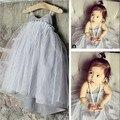 Ins hot style harness stripe gaze véu temperamento feminino vestido de bebê crianças condoer cinto colete