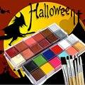 12 color del pigmento pintura de la cara de halloween para mujeres Conjunto De Navidad Vestido de Lujo Belleza Herramientas de Maquillaje por IMAGIC
