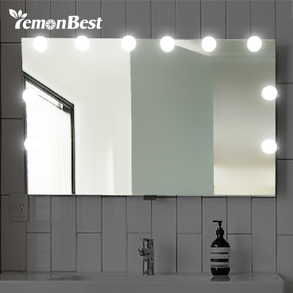 Cooperative Diy Hollywood Style Led Mirror Light With Touch Dimmer And Power Supply Makeup Mirror Vanity Led Light For Dressing Table Lights & Lighting