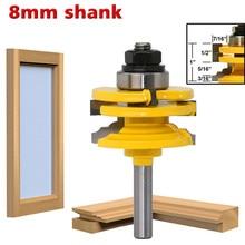 8Mm Shankตัดไม้ตัดReversibleประตูหน้าต่างTenon Jointมีดตัดมิลลิ่งเครื่องตัดไม้ตัดเครื่องมือ