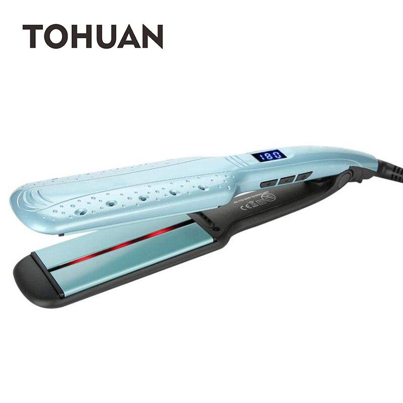 TOHUAN Профессиональный инфракрасный выпрямитель волос керамический плоский утюг отрицательные Ионные Прямые утюжки для волос с воздушным о