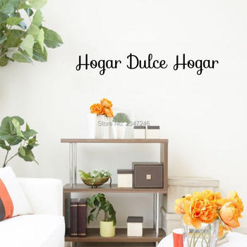 Sweet Home Spanish Quotes Wall Stickers Hogar Dulce Hogar Vinyl Mural Decals for Room Decoration image