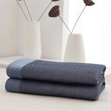 Cotton Waffle Weave  japan solid Thermal Blanket All Season Breathable weighted Blankets Perfect for Bed Home Decor