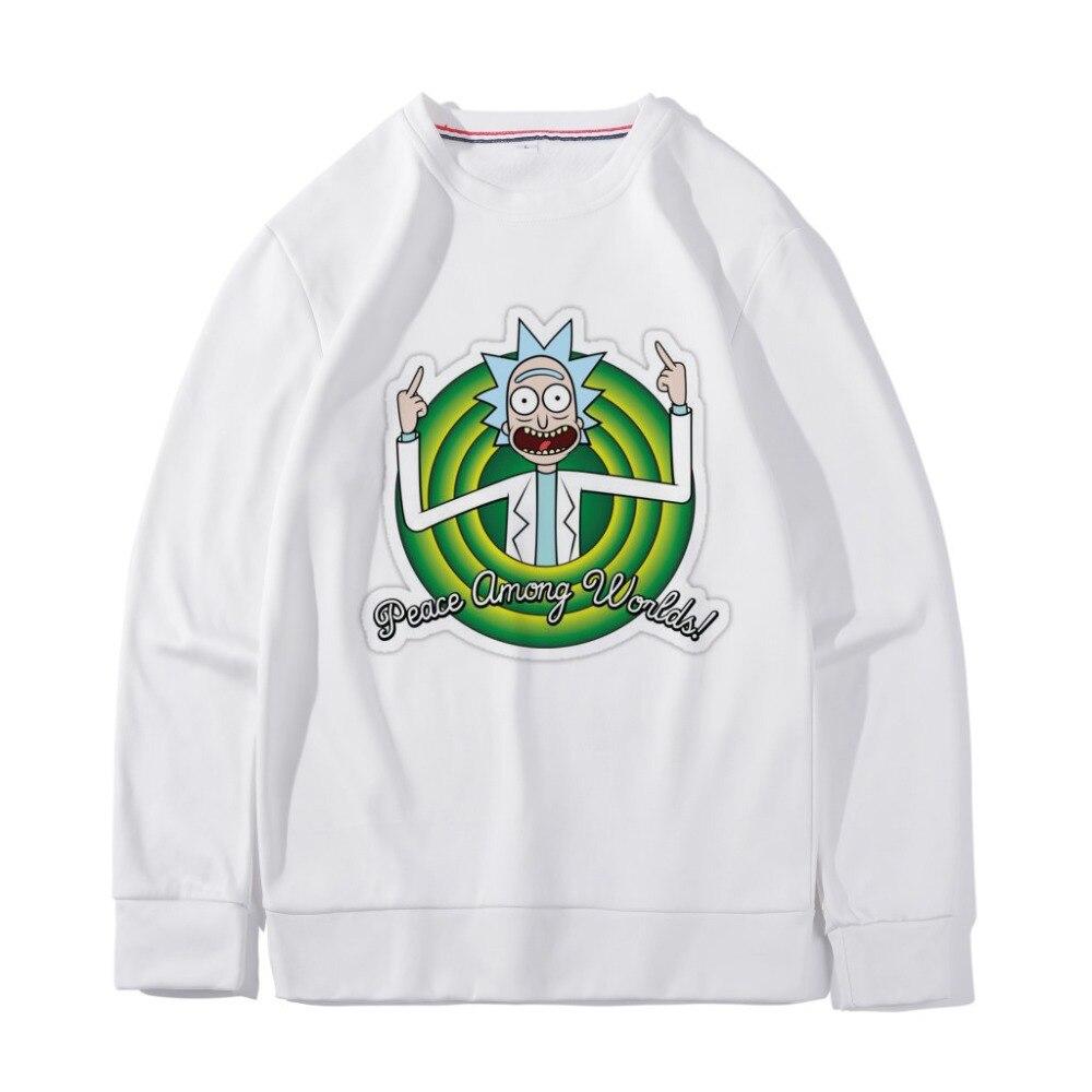 2019 Rick And Morty Sweater Cartoon Sweatshirt Harajuku Style Hoodies Mad Scientist Rick 3d Print Men Women Casual Pullover