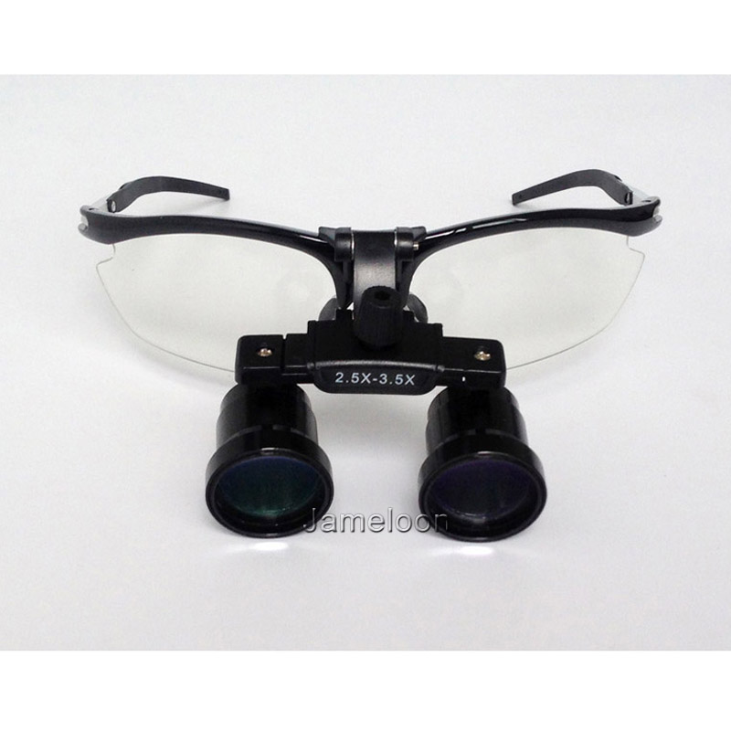 2.5X - 3.5X adjustable magnification dentist dental loupe shortsighted glass available surgical magnifier long working distance spark 3 5x magnification professional loupes with comfortable headband 360 460mm working distance adjustable pupil distance