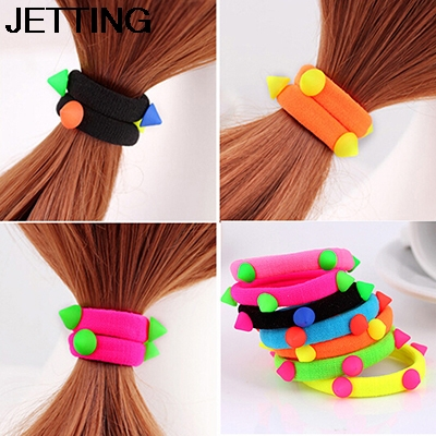 1 PCS Fluorescent women Elastic hair bands Candy Color baby girl kids headbands hair ropes headwear hair accessories