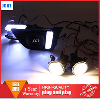 Car Styling 2014 2015 For Honda Fit LED DRL For Fit Led Fog Lamps Daytime Running