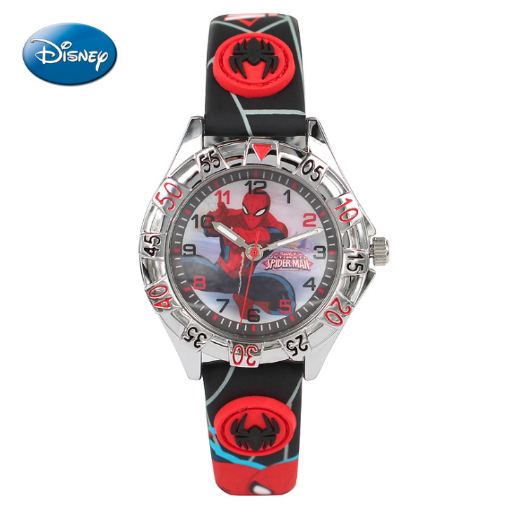 100 genuine disney watches fashion children boys kids students spider man sports watches for Spiderman watches