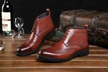 Модный бренд черный/коричневый загар мужские платья обувь подлинной кожаные ботинки мужские деловые туфли новый формальный человек свадьба обувь