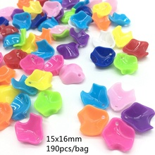Meideheng multi Solid color Flower Petals Shape Beads Acrylic Peony DIY For Jewelry Making Handmade 15x16mm 190pcs/bag