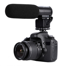Capacitive video microphone for digital SLR camera interview condenser shoting