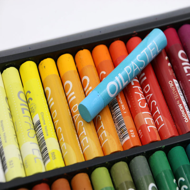 Cute Art Supplies Crayons 50 Colors Soft Oil Pastels For Drawing Set Children Waxes Kids Gift Oil Painting Stick Painting Item
