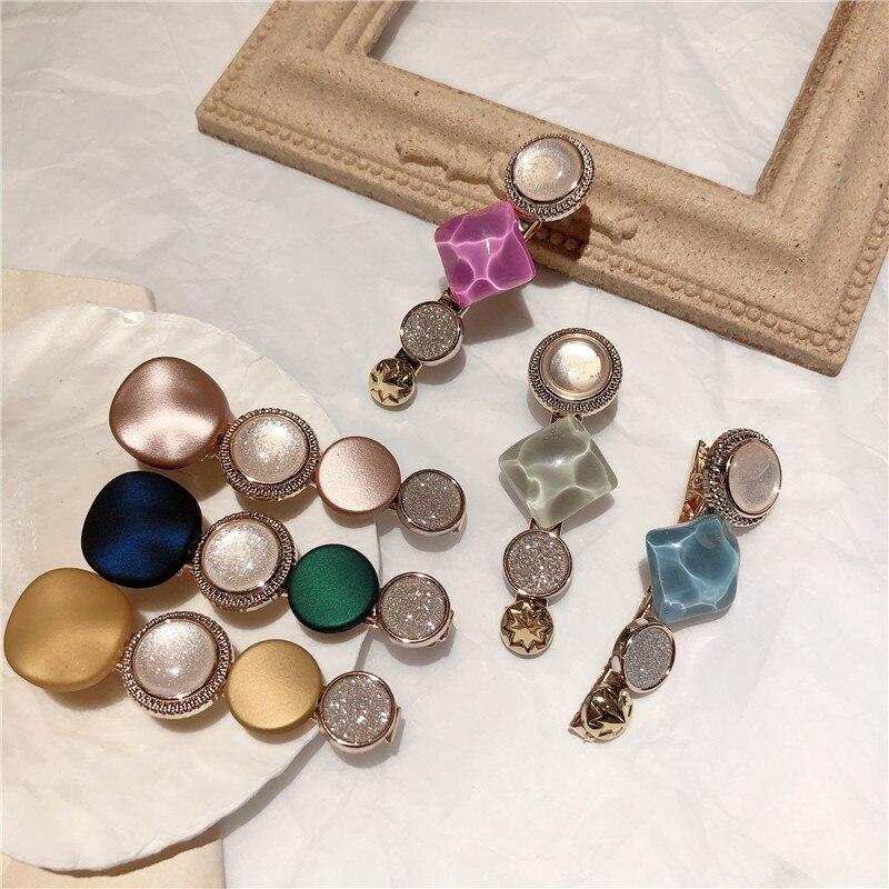 Ruifan Korean Fashion Macaron Color Geometric Woman Bangs Hair Pins Clip Vintage Barrettes Jewelry Girl Buy China Direct YHA015
