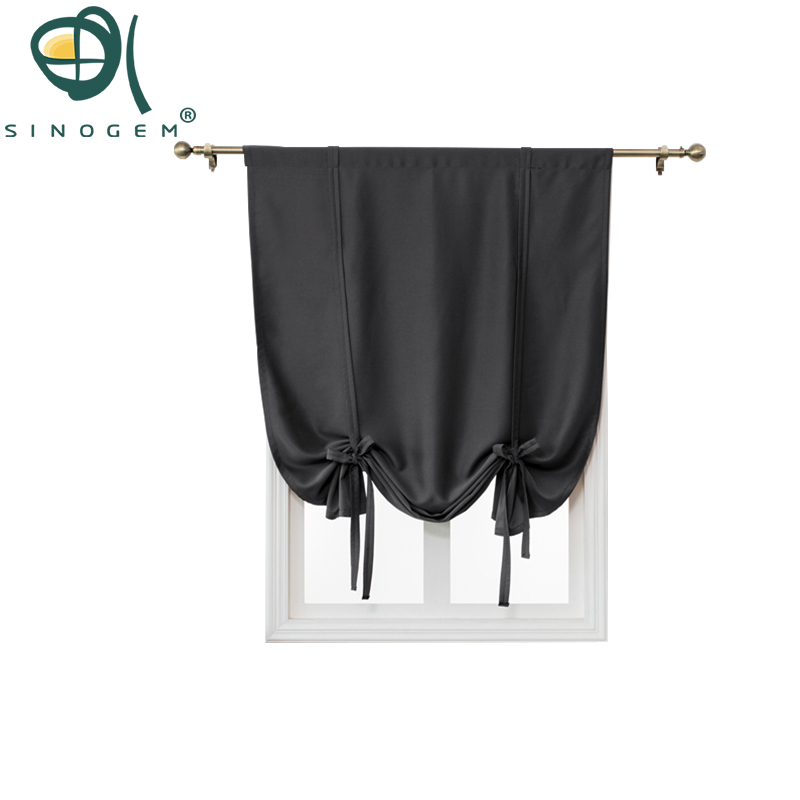 sinogem tie up shades for window roman style top rated blackout curtain window drape for kitchen. Black Bedroom Furniture Sets. Home Design Ideas