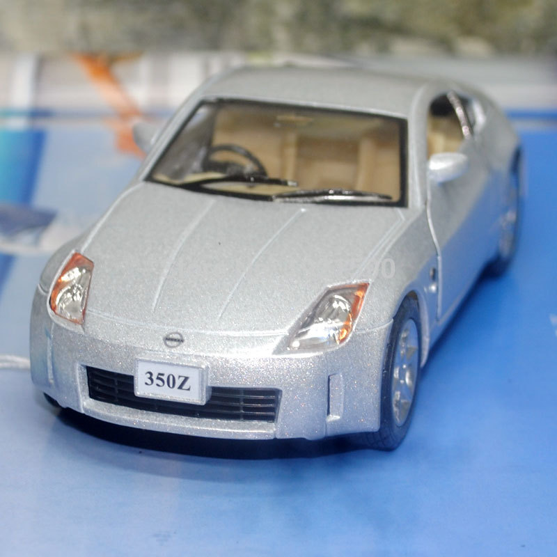 5pcs/pack Wholesale KT 1/34 Scale Car Toys Nissan 350Z Diecast Metal Pull Back Car Model Toy