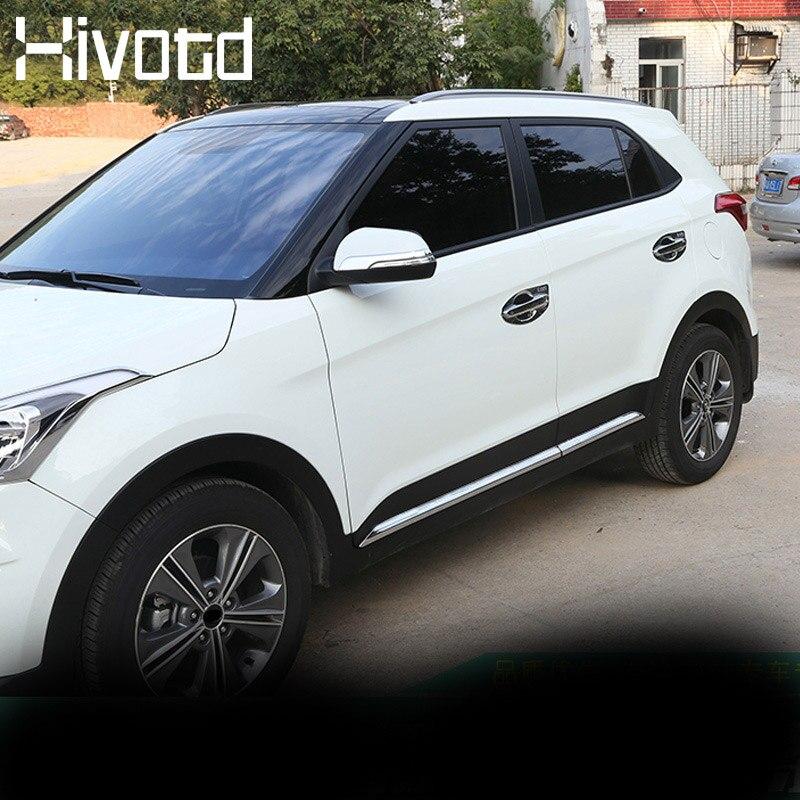 Zubehör für Hyundai Creta ix25 Auto Tür Körper Dekoration Streifen Hivotd 2017 2018 2019 ABS Chrom Styling Außen Trim Abdeckung