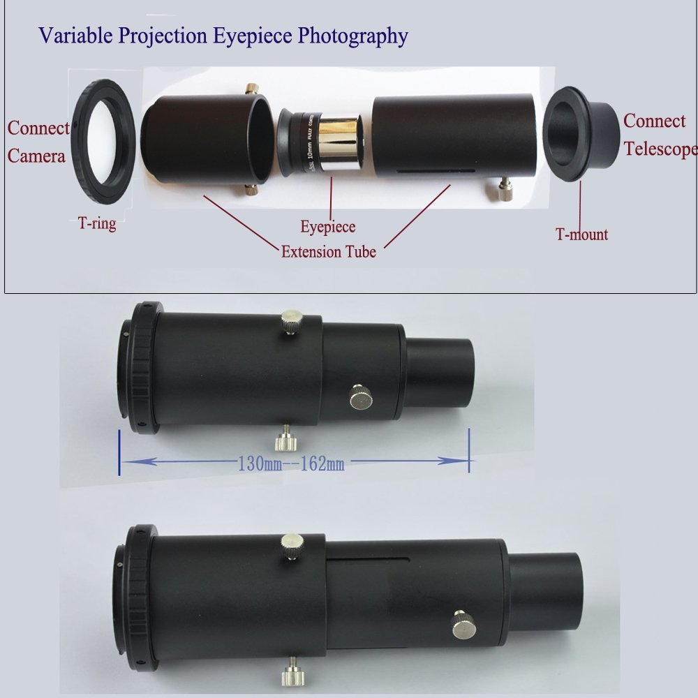 """Deluxe Telescope Camera Adapter Kit for Sony AF DSLR / SLR - Prime Focus and Projection - Fits Standard 1.25"""" Telescopes"""