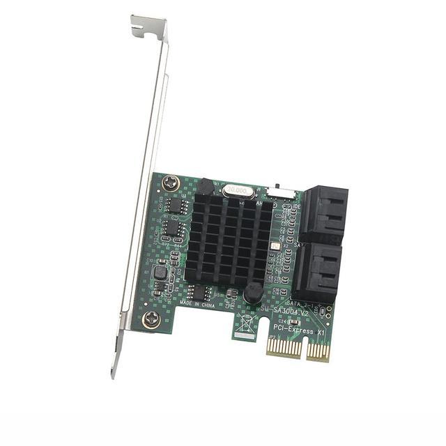HDD SSD adaptörü PCIE PCI Express 1x 4 Port Sata 3.0 6Gbps dönüştürücü kartı adaptörü genişletme kartı soğutucu düşük profil braketi