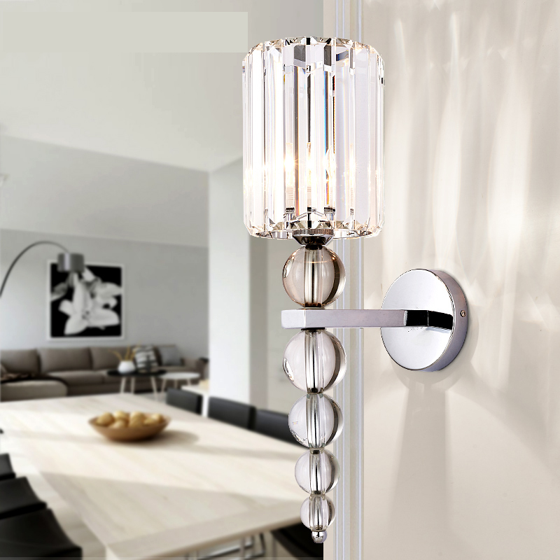 2020 New Wall Lamp Stacked Crystal Ball Chrome Led Wall Sconce Light Home Decoration Indoor Lighting Fixture Industrial Decor(China)