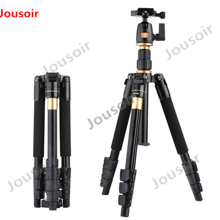 Camera Tripod QZSD Q555 Aluminium Alloy Camera Video Monopod Professional Extendable Tripod With Quick Release Plate Stand CD50