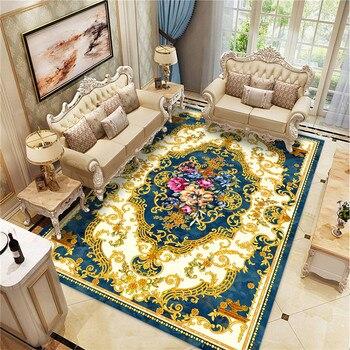 אירופאי הדפסת שטיח סלון חדר שינה בסגנון אירופאי שטיח רצפת מחצלת שפשפת בציר גיאומטרי מטבח החלקה אזור שטיח